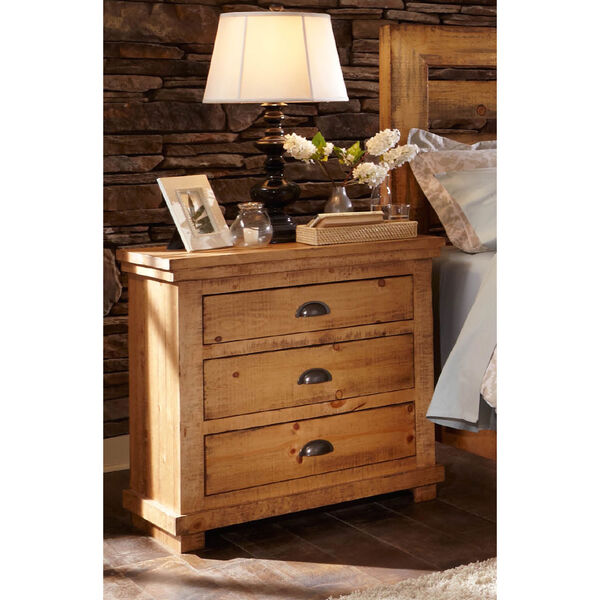 Willow Distressed Pine Nightstand, image 1