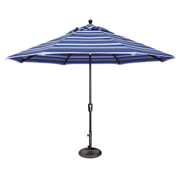 Catalina Blue 11-Feet Octagon Push Button Tilt Umbrella, image 1
