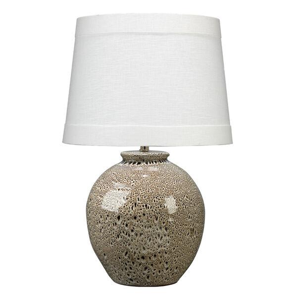 Vagabond Brown Reactive Glaze Ceramic One-Light Table Lamp, image 1