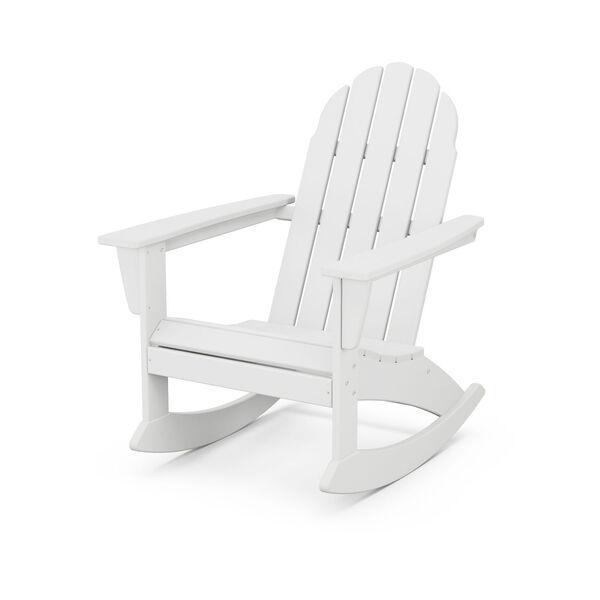 Vineyard White Adirondack Rocking Chair, image 1