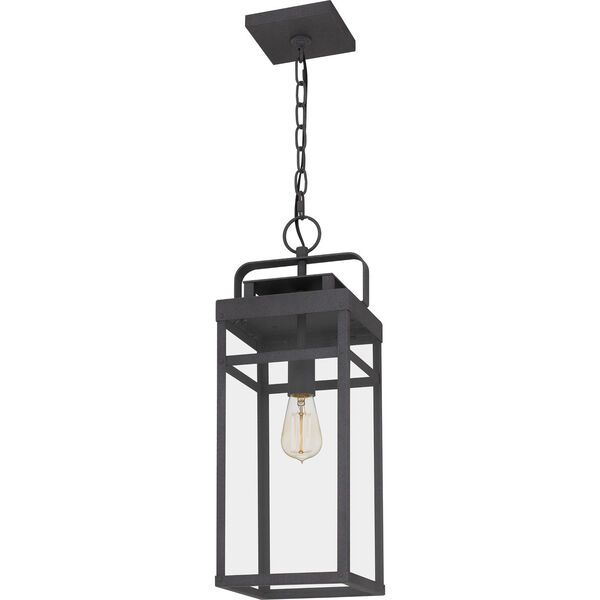 Keaton Mottled Black One-Light Outdoor Pendant, image 4