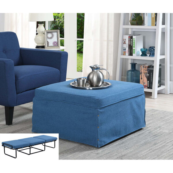 Designs4Comfort Blue Folding Bed Ottoman, image 1