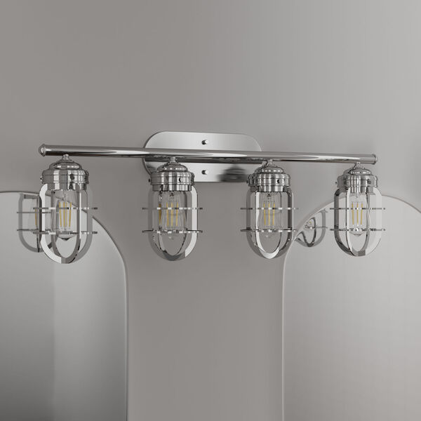 Starklake Chrome Four-Light Bath Vanity, image 3