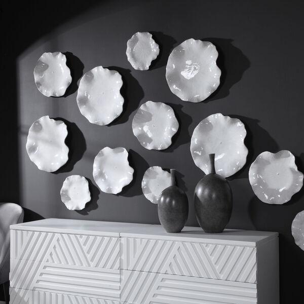 Abella White Ceramic Wall Decor, Set of 3, image 1