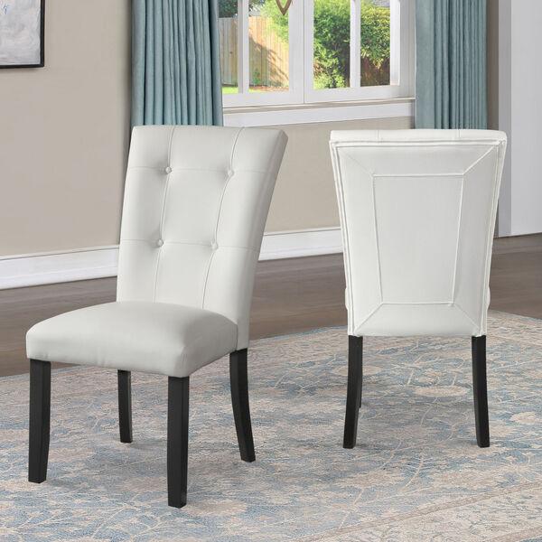 Markina White and Ebony Side Chair, image 1