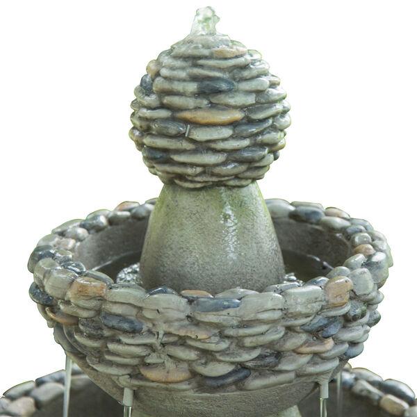 Stone Grey Outdoor Garden Zen Three - Tier Waterfall Fountain, image 3