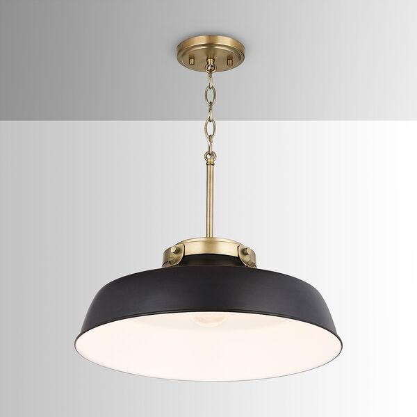 Oakwood Matte Black One-Light Pendant, image 2