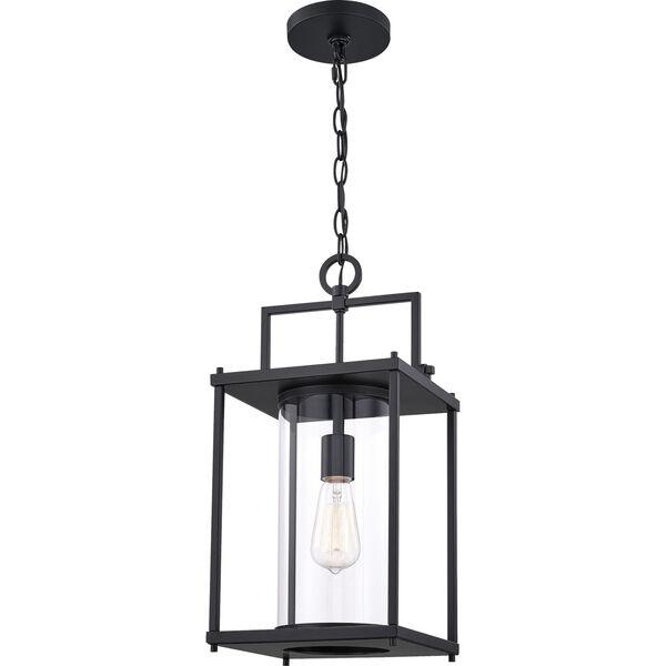 Garrett Matte Black 9-Inch One-Light Outdoor Hanging Lantern with Clear Glass, image 3