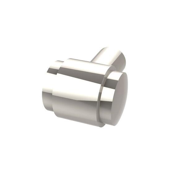 Polished Nickel 1 Inch Knob, image 1