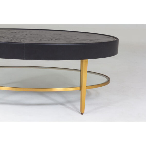 Ellipse Black and Gold Cocktail Table, image 5