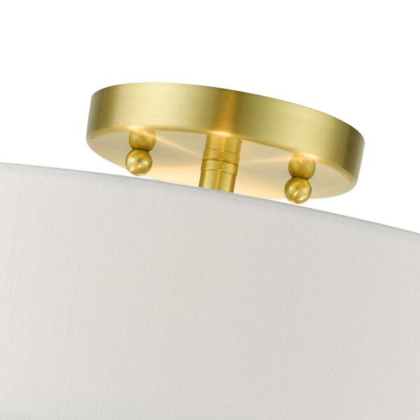 Meridian Satin Brass 18-Inch Four-Light Semi-Flush Mount, image 6