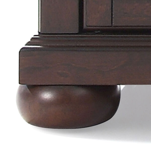 Alexandria 60-Inch Low Profile TV Stand in Vintage Mahogany Finish, image 2