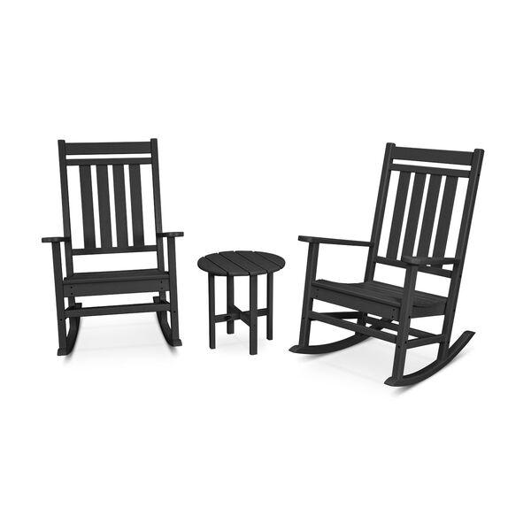 Black Estate Rocking Chair Set, 3-Piece, image 1