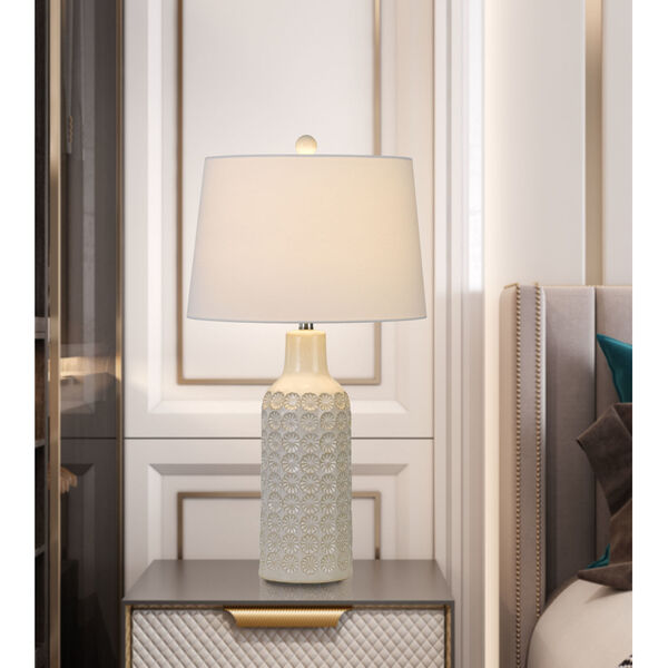 Regina Gray and White One-Light Table lamp, image 2