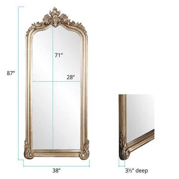 Tudor Silver Floor Mirror, image 4