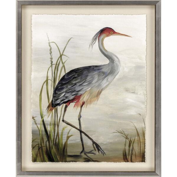 Blue 44 H x 35 W-Inch Grey Heron Wall Art, image 2