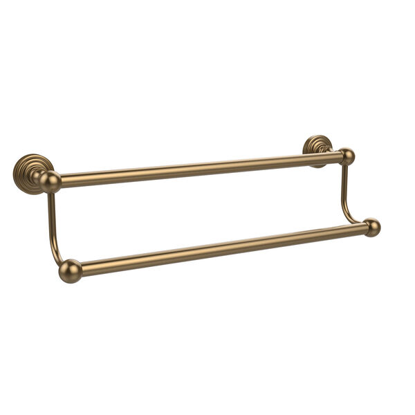 Waverly Place Collection 36 Inch Double Towel Bar, Brushed Bronze, image 1