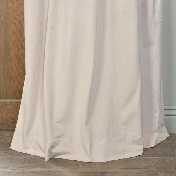 Alabaster Beige Blackout Velvet Pole Pocket Single Panel Curtain, 50 X 84, image 5