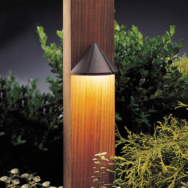 Six Groove Textured Architectural Bronze 4-Inch One-Light Landscape Deck Fixture, image 1