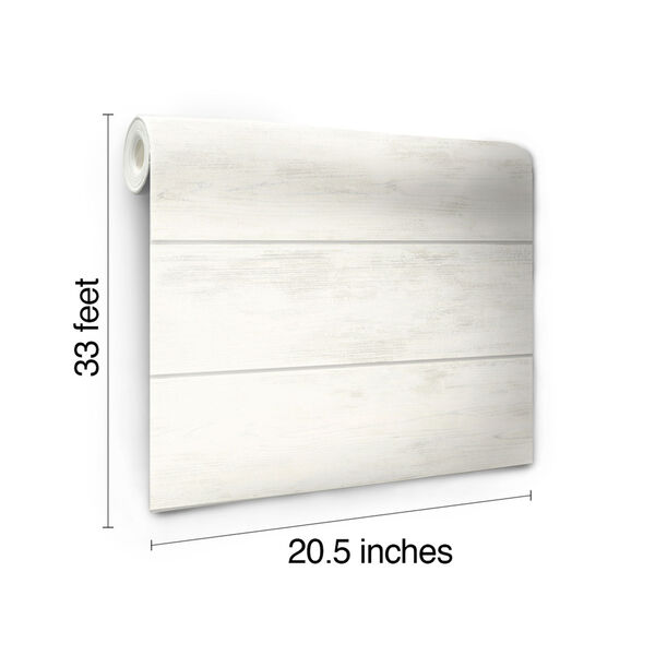 Shiplap White and Gray Removable Wallpaper, image 12