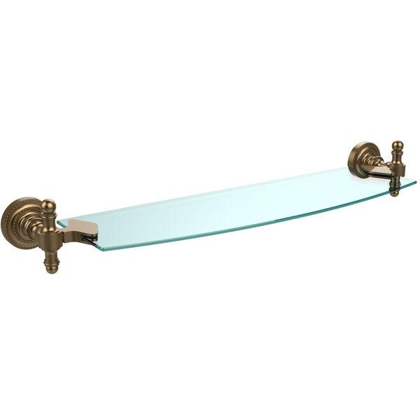 Retro Dot Brushed Bronze 18 Inch Single Glass Shelf, image 1