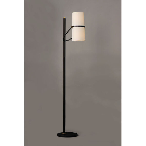 Oscar Bronze and Antique Brass Two-Light Armchair Floor Lamp, image 2