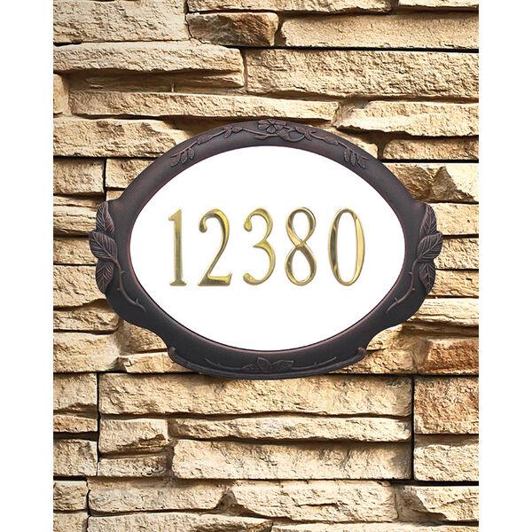 Floral Copper Address Plaque, image 1