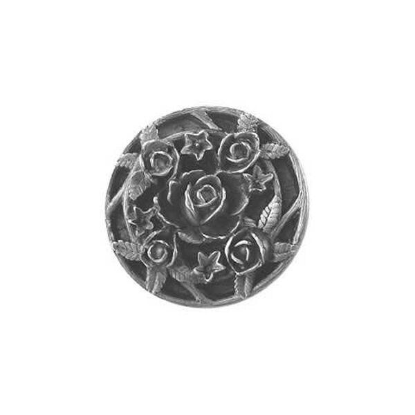 Antique Pewter Saratoga Rose Knob , image 1