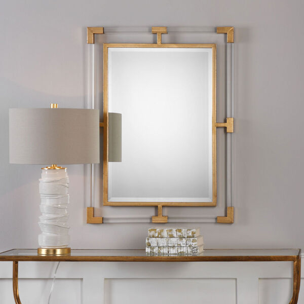 Balkan Modern Gold Wall Mirror, image 1