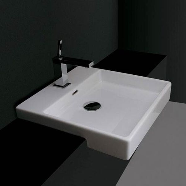 Ceramica Valdama White Bathroom Countertop Sink Only, image 1
