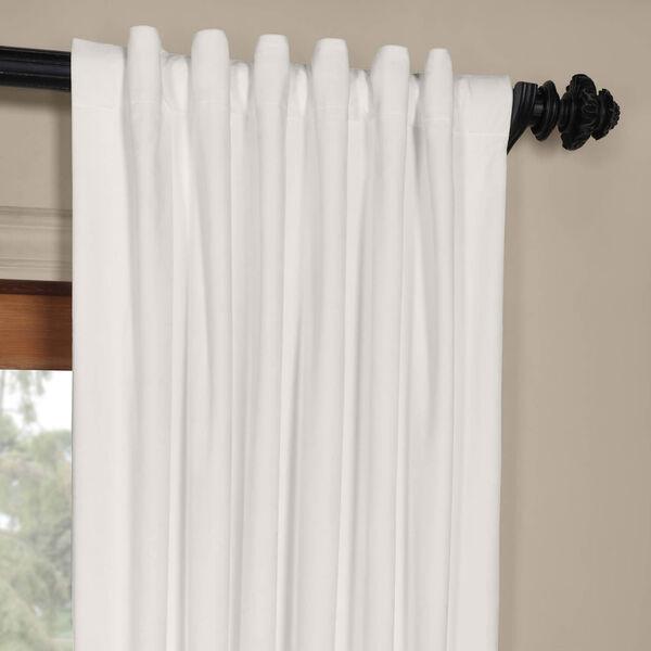 White 108 x 50 In. Plush Velvet Curtain Single Panel, image 4