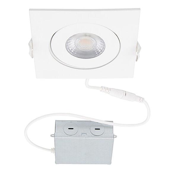 Lotos White LED Square Recessed Light Kit, image 1