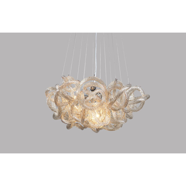 Infinity Chandelier with Champagne Glass in Chrome Finish - Small, image 1