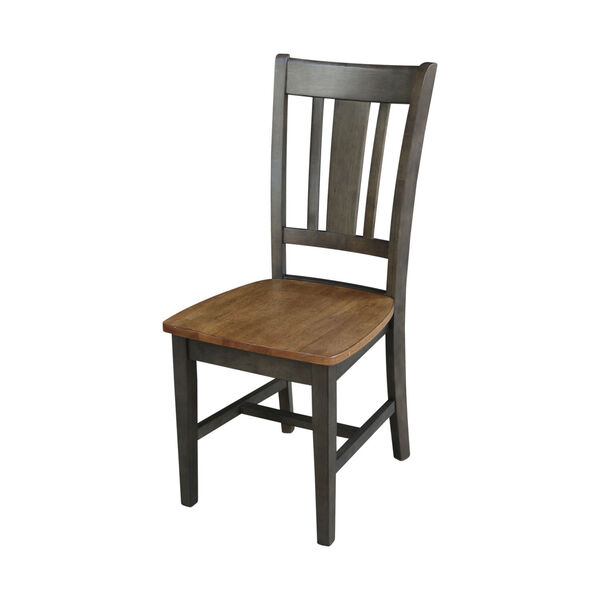 San Remo Hickory and Washed Coal Splatback Chair, Set of 2, image 1