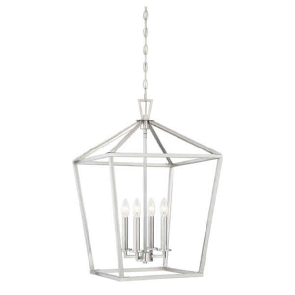 Anna Brushed Nickel 17-Inch Four-Light Pendant, image 1