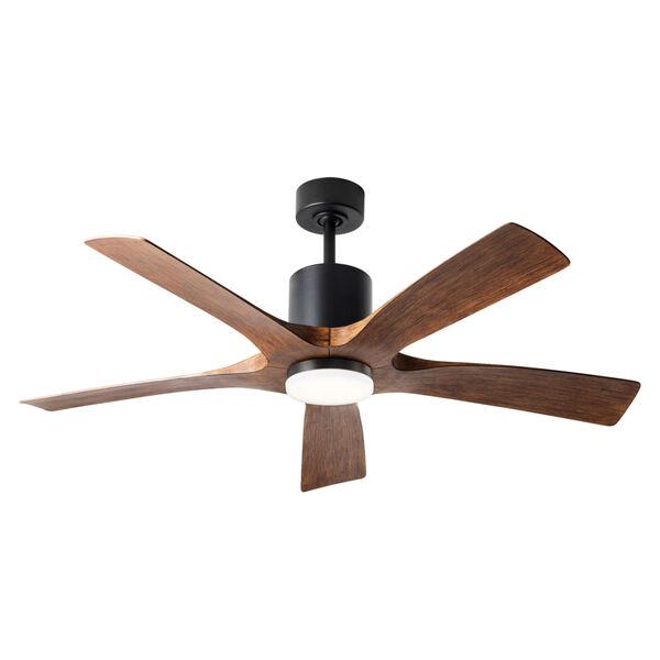 Aviator Matte Black and Distressed Koa 54-Inch ADA LED Ceiling Fan, image 4