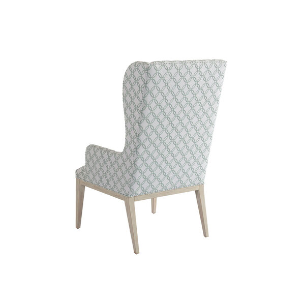 Newport Green and White Seacliff Upholstered Host Wing Chair, image 2