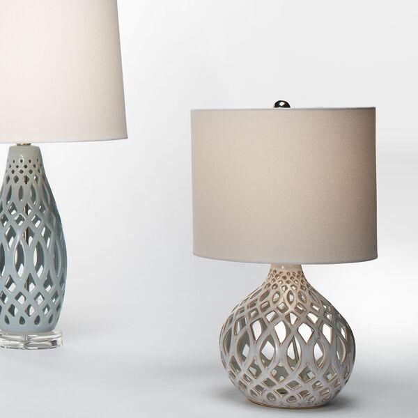 Cora Cream and White One-Light Ceramic Table Lamp, image 3