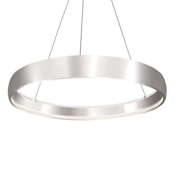 Halo Silver 35-Inch One-Light LED Pendant, image 1