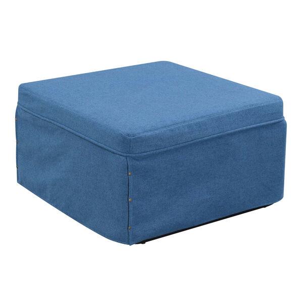 Designs4Comfort Blue Folding Bed Ottoman, image 2