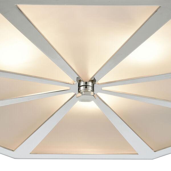Windsor Polished Nickel 20-Inch Three-Light Flush Mount, image 3