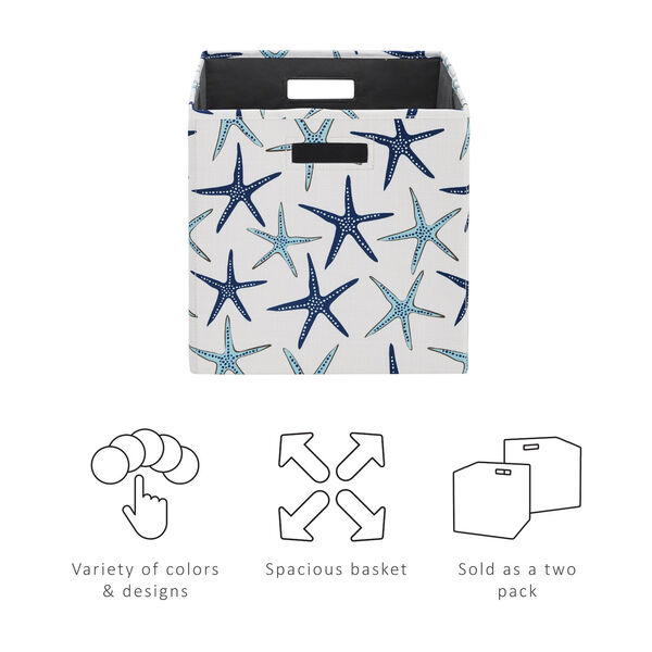 Liam Multicolor Starfish Storage Bin, Pack of 2, image 5