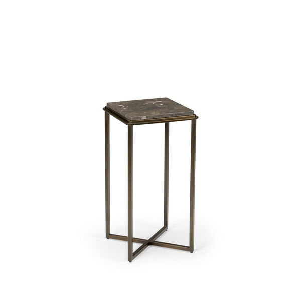 Bronze and Antique Silver 15-Inch Fair Haven Pedestal, image 1