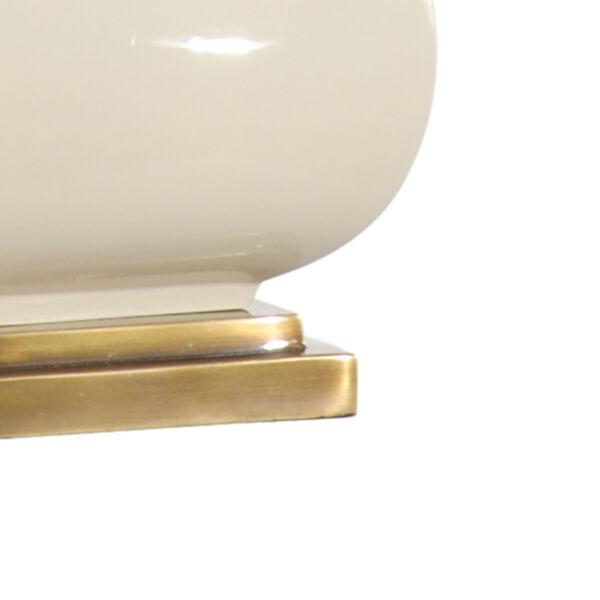 Beige One-Light 12-Inch Dawson Lamp, image 2