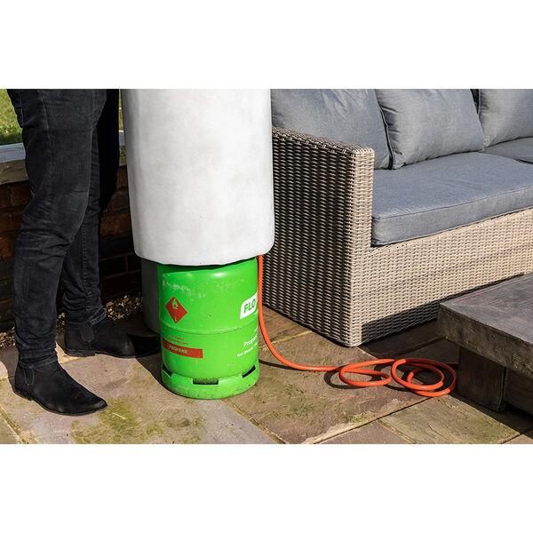 Light Grey 40-Inch Round Propane Gas Storage, image 4