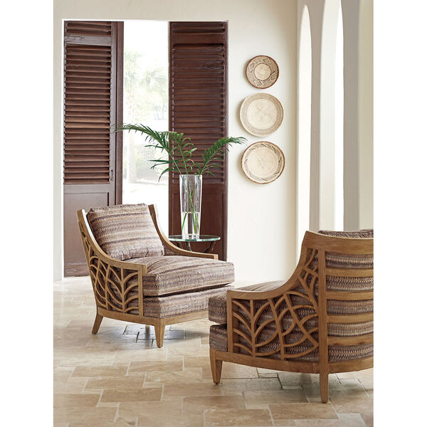 Los Altos Brown and Beige Marion Chair, image 2