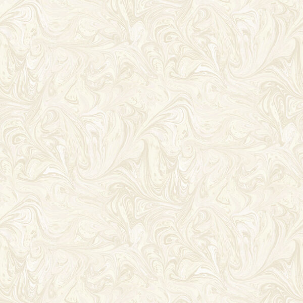 Boho Rhapsody Cream and Ivory Sierra Marble Unpasted Wallpaper, image 2