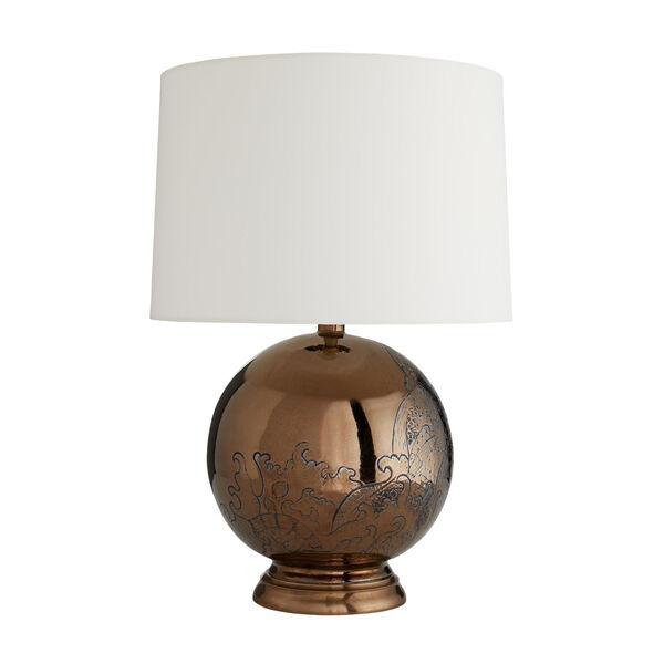Frank Ponterio Bronze One-Light Flint Lamp, image 1