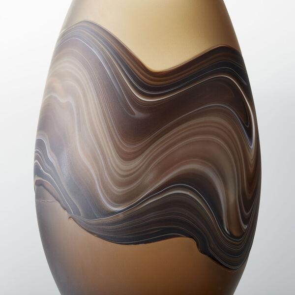 Amber Swirl 8-Inch Nina Vase, image 2