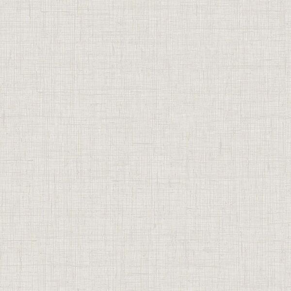 Boho Rhapsody Gray Mist Bermuda Linen Stringcloth Unpasted Wallpaper, image 2
